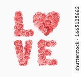 Love Slogan In Red Roses...