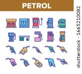 petrol station tool collection... | Shutterstock .eps vector #1665210082