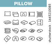 pillow orthopedic collection... | Shutterstock .eps vector #1665210085