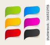 speech bubble | Shutterstock .eps vector #166521956