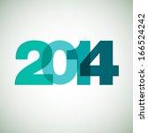 happy new year 2014. vector... | Shutterstock .eps vector #166524242