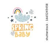 Spring Baby. Cartoon Rainbows ...