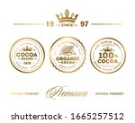 cocoa premium quality stamp.... | Shutterstock .eps vector #1665257512