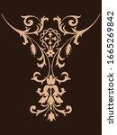 vintage baroque ornament retro... | Shutterstock .eps vector #1665269842