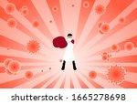 vector illustration fight... | Shutterstock .eps vector #1665278698