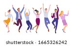 business team success. vector... | Shutterstock .eps vector #1665326242