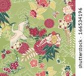 oriental silk pattern with... | Shutterstock .eps vector #166534196