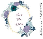 vector drawing rose flowers and ...   Shutterstock .eps vector #1665373705