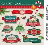 christmas design elements   Shutterstock .eps vector #166538942