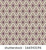Monochrome rhombic pattern