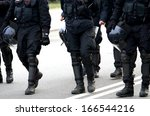 Long Black Boots And Helmets...