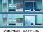 doctor's office in the hospital....   Shutterstock .eps vector #1665448282