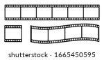 Set Of Film Strip  Vector...