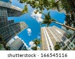 fish eye view of the brickell... | Shutterstock . vector #166545116