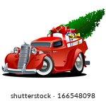 cartoon christmas pickup... | Shutterstock .eps vector #166548098
