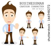 businessman cartoon character... | Shutterstock .eps vector #166548272