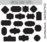 decorative vintage clear frames ... | Shutterstock .eps vector #1665567922