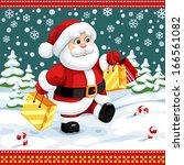 merry christmas poster   Shutterstock .eps vector #166561082