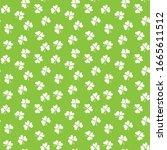 clover leaf seamless pattern ... | Shutterstock .eps vector #1665611512