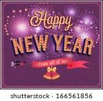 new year typographic design.... | Shutterstock .eps vector #166561856