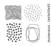 set of vector abstract handmade ...   Shutterstock .eps vector #1665635692