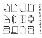 folded paper icons   Shutterstock .eps vector #166570622