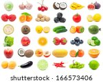 collection of various fruits... | Shutterstock . vector #166573406