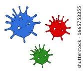 set coronavirus 2019 ncov... | Shutterstock .eps vector #1665753355