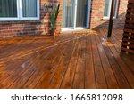 Backyard Wooden Deck Floor...