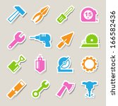 construction icons set... | Shutterstock .eps vector #166582436