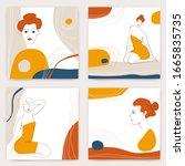 vector modern abstract organic... | Shutterstock .eps vector #1665835735