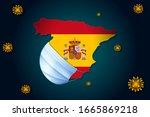 coronavirus or corona virus...   Shutterstock .eps vector #1665869218