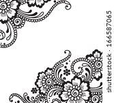 flower vector ornament | Shutterstock .eps vector #166587065