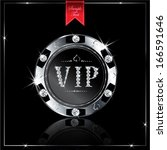 metallic vip with diamond