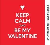 creative valentines day vector... | Shutterstock .eps vector #166593566