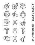 bundle of alzheimer set icons... | Shutterstock .eps vector #1665956575