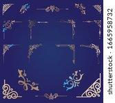 luxury border ornament...   Shutterstock .eps vector #1665958732