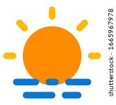 sunrise icon with flat style....