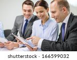 business  technology and office ... | Shutterstock . vector #166599032