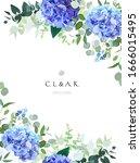 summer botanical vector design... | Shutterstock .eps vector #1666015495