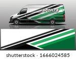 van car wrapping decal design | Shutterstock .eps vector #1666024585