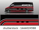 van car wrapping decal design | Shutterstock .eps vector #1666024588