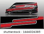 van car wrapping decal design | Shutterstock .eps vector #1666026385