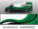 van car wrapping decal design | Shutterstock .eps vector #1666028602