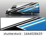 van car wrapping decal design | Shutterstock .eps vector #1666028635