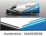 van car wrapping decal design | Shutterstock .eps vector #1666028638