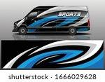 van car wrapping decal design | Shutterstock .eps vector #1666029628