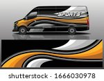 van car wrapping decal design | Shutterstock .eps vector #1666030978