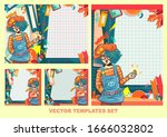 pop art girl  vector templates... | Shutterstock .eps vector #1666032802