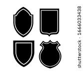 vector shield icon flat design... | Shutterstock .eps vector #1666033438